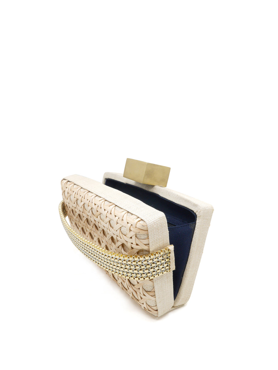 Releve Fashion Clare Hynes Natural Sophia Clutch Ethical Designers Sustainable Fashion Brands Purchase with Purpose Shop for Good