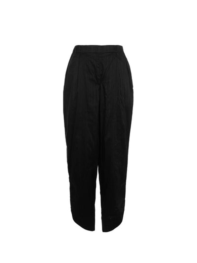 Releve Fashion Harem London Black Silk Trousers Sustainable Fashion Ethical Clothing Brand Positive Fashion Shop For Good Buy Now