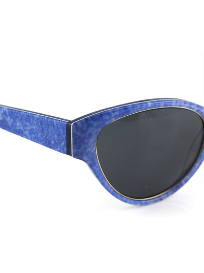 Releve Fashion Heidi London Blue Denim Cateye Sunglasses Ethical Designers Sustainable Fashion Accessories Brand Eyewear Positive Fashion Purchase with Purpose Shop for Good
