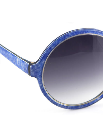 Releve Fashion Heidi London Blue Denim Circular Sunglasses Ethical Designers Sustainable Fashion Accessories Brand Eyewear Positive Fashion Purchase with Purpose Shop for Good