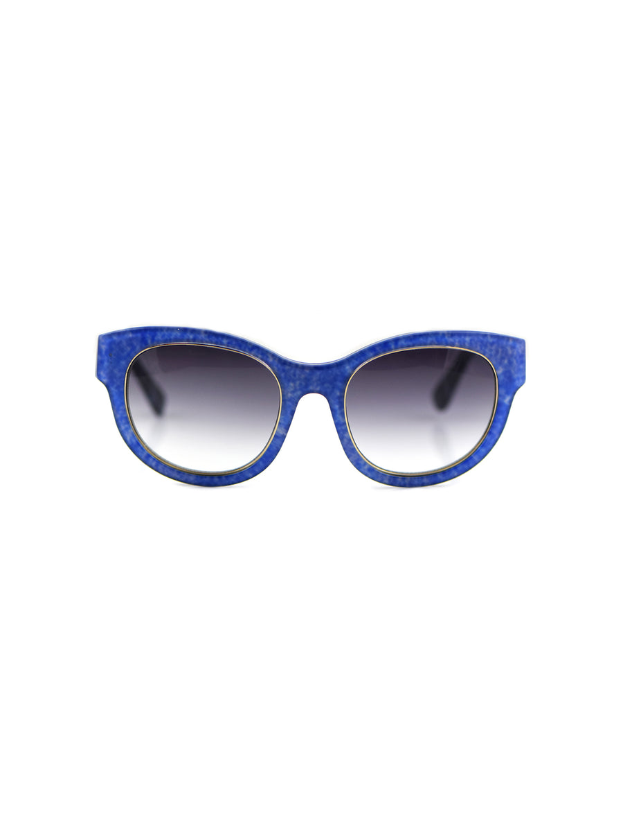 Releve Fashion Heidi London Blue Denim Square Sunglasses Ethical Designers Sustainable Fashion Accessories Brand Eyewear Positive Fashion Purchase with Purpose Shop for Good