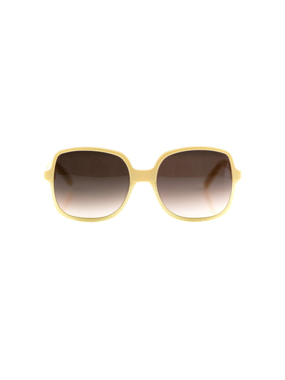 Releve Fashion Heidi London Ivory Square Sunglasses Ethical Designers Sustainable Fashion Accessories Brand Eyewear Positive Fashion Purchase with Purpose Shop for Good