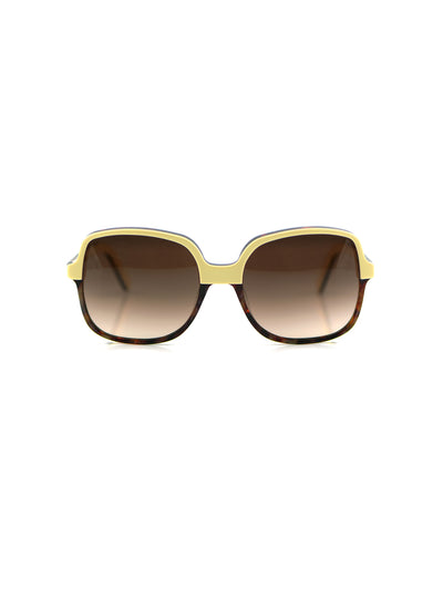 Releve Fashion Heidi London Ivory Tortoise Shell Square Sunglasses Ethical Designers Sustainable Fashion Accessories Brand Eyewear Positive Fashion Purchase with Purpose Shop for Good