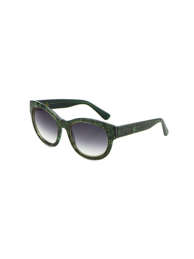 Releve Fashion Heidi London Forest Green Denim Square Sunglasses Ethical Designers Sustainable Fashion Accessories Brand Eyewear Positive Fashion Purchase with Purpose Shop for Good