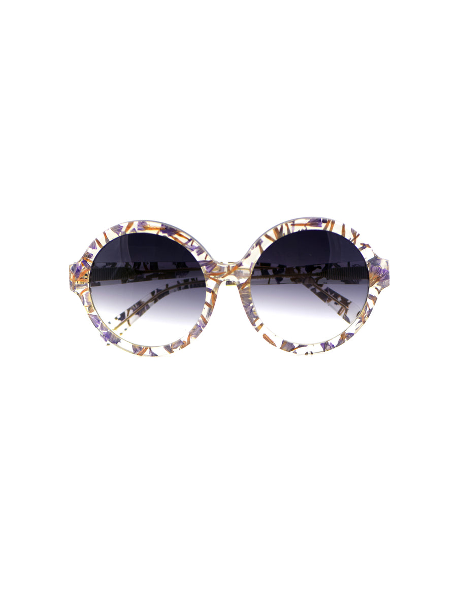 Releve Fashion Heidi London Forget Me Not Circular Sunglasses Ethical Designers Sustainable Fashion Accessories Brand Eyewear Positive Fashion Purchase with Purpose Shop for Good