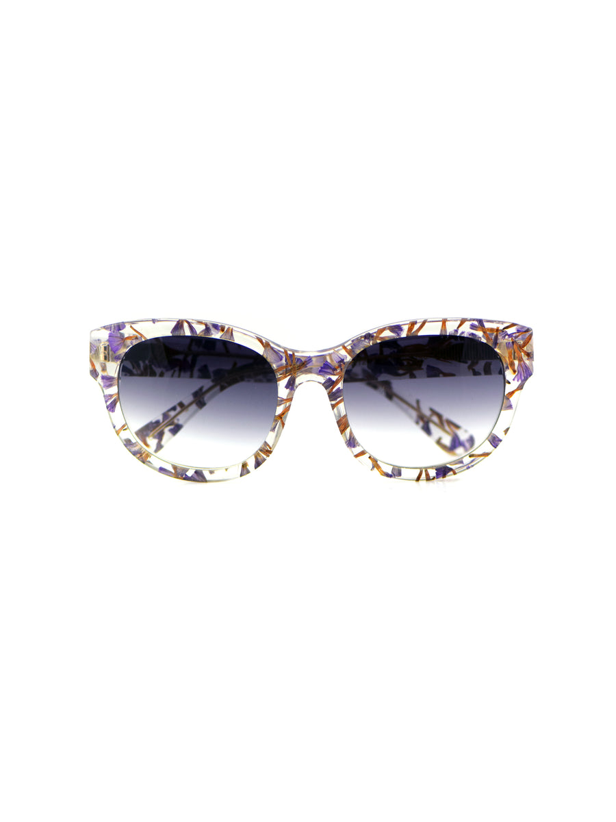 Releve Fashion Heidi London Forget Me Not Classic Square Sunglasses Ethical Designers Sustainable Fashion Accessories Brand Eyewear Positive Fashion Purchase with Purpose Shop for Good