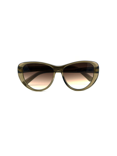 Releve Fashion Heidi London Olive Classic Cateye Sunglasses Ethical Designers Sustainable Fashion Accessories Brand Eyewear Positive Fashion Purchase with Purpose Shop for Good