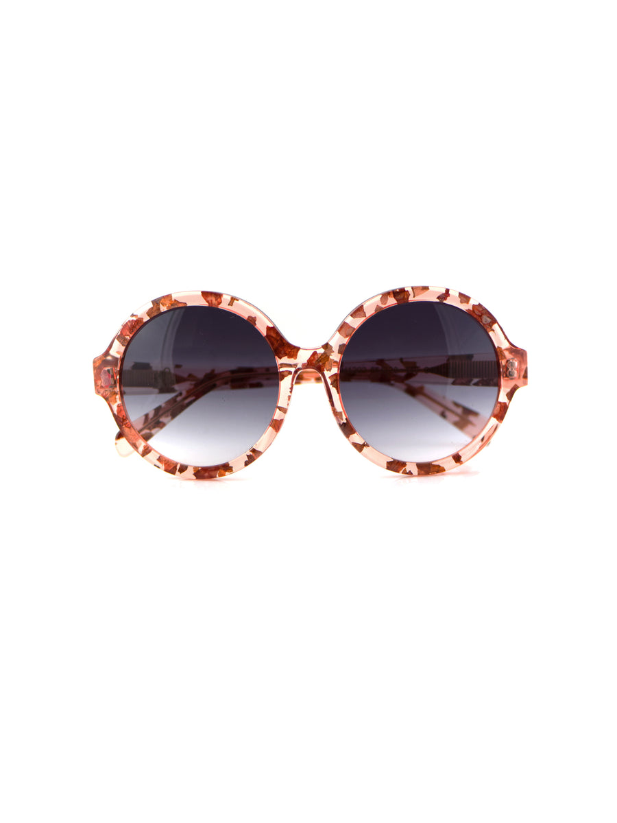 Releve Fashion Heidi London Rose Petal Circular Sunglasses Ethical Designers Sustainable Fashion Accessories Brand Eyewear Positive Fashion Purchase with Purpose Shop for Good