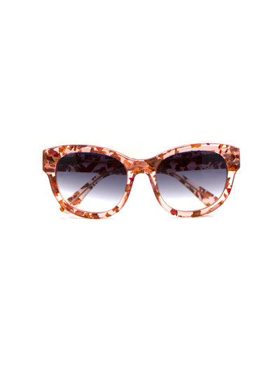 Releve Fashion Heidi London Rose Petal Classic Square Sunglasses Ethical Designers Sustainable Fashion Accessories Brand Eyewear Positive Fashion Purchase with Purpose Shop for Good