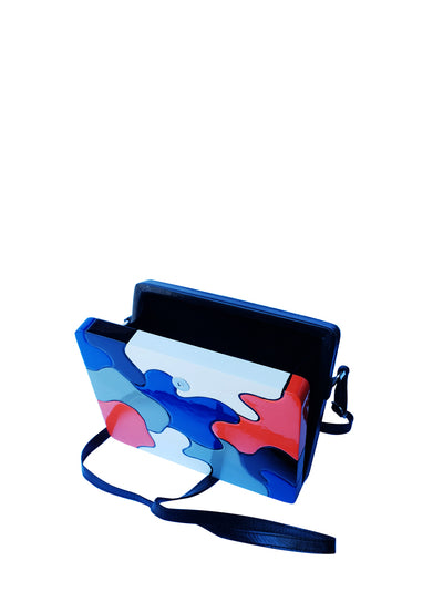 Releve Fashion Joanique Large Aurora Clutch Bag Black Blue Red White Ethical Designers Sustainable Fashion Accessory Brand Purchase with Purpose Shop for Good