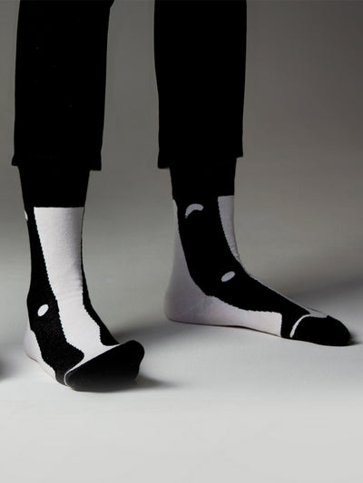 Releve Fashion Look Mate Shop Buy Now Sustainable Fashion Ethical Fashion Positive Fashion Brand Clothing Accessories Socks Meles Meles by SoHo+Co Architects