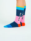 Releve Fashion Look Mate Graphic Socks 2.0 Designed by Benjamin Craven Sustainable Fashion Brand Ethical Designers Conscious Accessories Purchase with Purpose Shop Now for Good