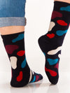 Releve Fashion Look Mate Graphic Socks Hey Flake Designed by Hey Sustainable Fashion Brand Ethical Designers Conscious Accessories Purchase with Purpose Shop Now for Good