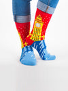 Releve Fashion Look Mate Graphic Socks The Magic of London Designed by Kiki Ljung Sustainable Fashion Brand Ethical Designers Conscious Accessories Purchase with Purpose Shop Now for Good