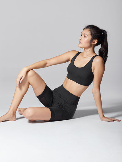 Releve Fashion Michi Black Kinetic Short Ethical Designers Sustainable Fashion Athleisure Activewear Brand Positive Luxury Brands to Trust Purchase with Purpose Shop for Good