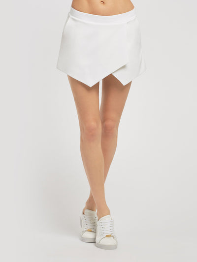 Releve Fashion Michi White Birdie Skirt Ethical Designers Sustainable Fashion Athleisure Activewear Brand Positive Luxury Brands to Trust Purchase with Purpose Shop for Good