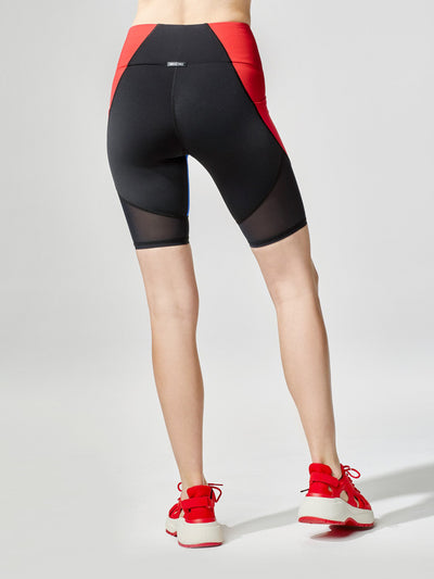 Releve Fashion Michi Circuit Bike Short Flame Sustainable Fashion Athleisure Activewear Brand Positive Luxury Brands to Trust Purchase with Purpose Shop for Good