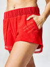 Releve Fashion Michi Drive Short Fire Red Sustainable Fashion Athleisure Activewear Brand Positive Luxury Brands to Trust Purchase with Purpose Shop for Good