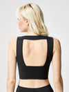 Releve Fashion Michi Formula Crop Top Black Sustainable Fashion Athleisure Activewear Brand Positive Luxury Brands to Trust Purchase with Purpose Shop for Good