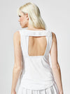 Releve Fashion Michi White Formula Tank Ethical Designers Sustainable Fashion Athleisure Activewear Brand Positive Luxury Brands to Trust Purchase with Purpose Shop for Good
