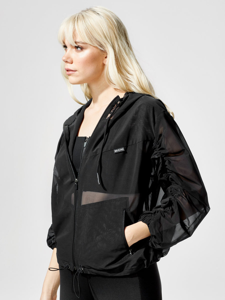 Releve Fashion Michi Indy Jacket Black Sustainable Fashion Athleisure Activewear Brand Positive Luxury Brands to Trust Purchase with Purpose Shop for Good