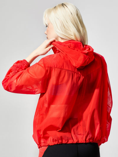 Releve Fashion Michi Indy Jacket Fire Red Sustainable Fashion Athleisure Activewear Brand Positive Luxury Brands to Trust Purchase with Purpose Shop for Good