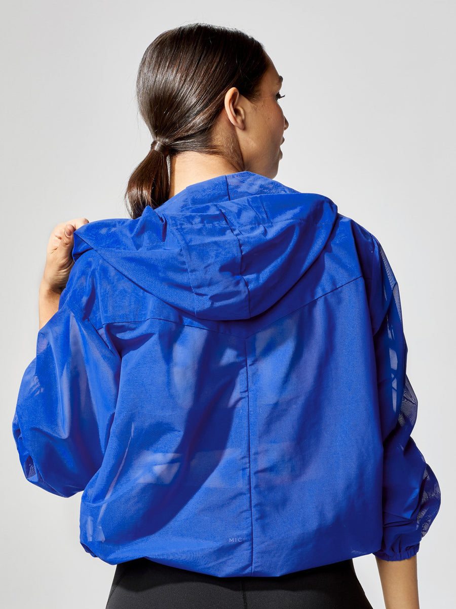 Releve Fashion Michi Indy Jacket Royal Blue Sustainable Fashion Athleisure Activewear Brand Positive Luxury Brands to Trust Purchase with Purpose Shop for Good
