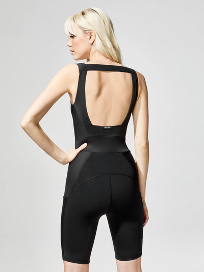 Releve Fashion Circuit Jumpsuit Black Sustainable Fashion Athleisure Activewear Brand Positive Luxury Brands to Trust Purchase with Purpose Shop for Good