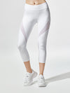 Releve Fashion Michi White Inversion Crop Legging Ethical Designers Sustainable Fashion Athleisure Activewear Brand Positive Luxury Brands to Trust Purchase with Purpose Shop for Good
