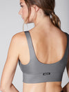 Releve Fashion Michi Gunmetal Liquid Bra Ethical Designers Sustainable Fashion Athleisure Activewear Brand Positive Luxury Brands to Trust Purchase with Purpose Shop for Good