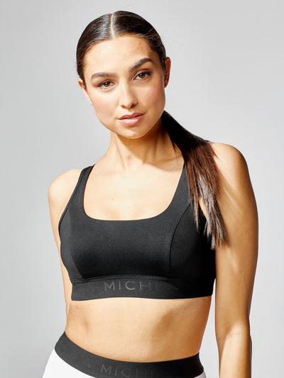 Releve Fashion Michi Black Match Bra Ethical Designers Sustainable Fashion Athleisure Activewear Brand Positive Luxury Brands to Trust Purchase with Purpose Shop for Good