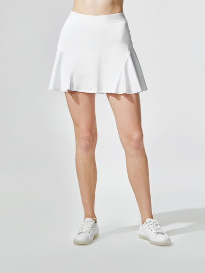 Releve Fashion Michi White Match Skirt Ethical Designers Sustainable Fashion Athleisure Activewear Brand Positive Luxury Brands to Trust Purchase with Purpose Shop for Good