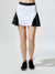 Match Skirt, White / Black Square Mesh