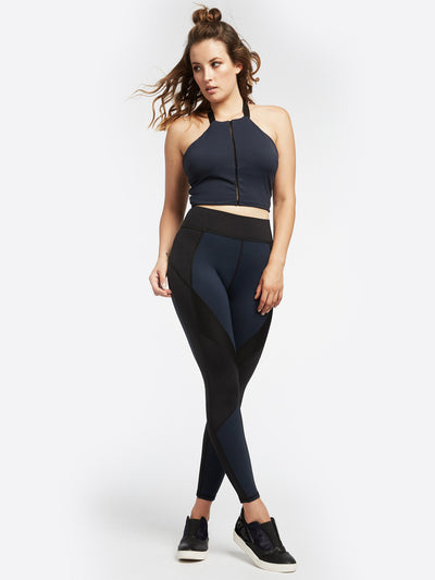 Releve Fashion Michi Axial Bustier Deep Sea Navy Activewear Athleisure Wear Ethical Designers Sustainable Fashion Brands Purchase with Purpose Shop for Good