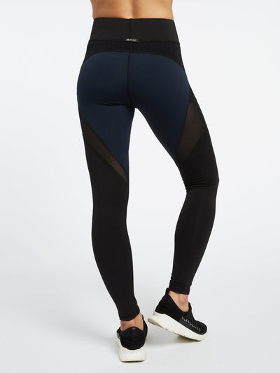 Releve Fashion Michi Deep Sea Navy Black Mirage Legging Activewear Athleisure Wear Ethical Designers Sustainable Fashion Brands Purchase with Purpose Shop for Good