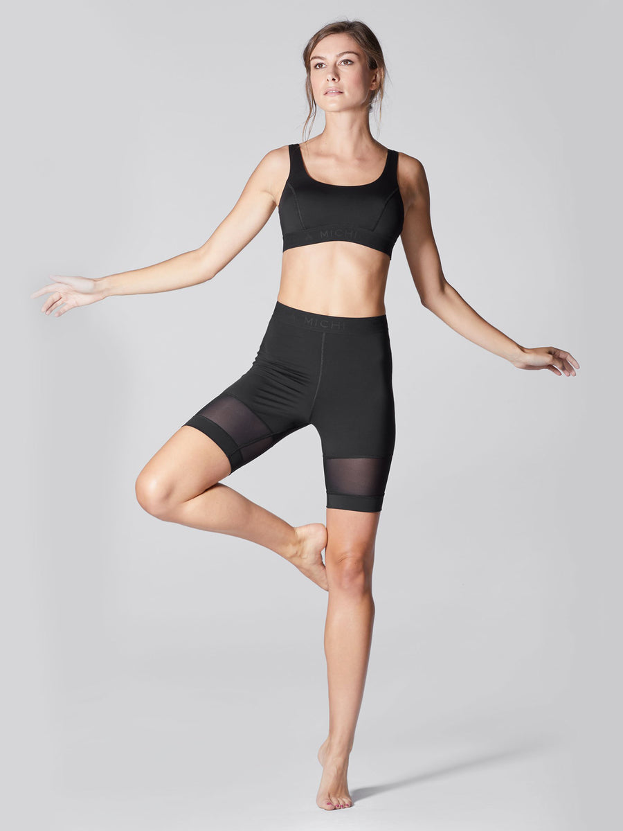 Releve Fashion Michi Black Pulse Short Ethical Designers Sustainable Fashion Athleisure Activewear Brand Positive Luxury Brands to Trust Purchase with Purpose Shop for Good