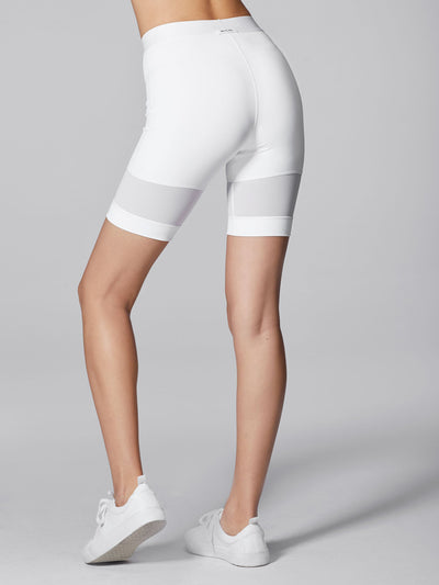 Releve Fashion Michi White Pulse Short Ethical Designers Sustainable Fashion Athleisure Activewear Brand Positive Luxury Brands to Trust Purchase with Purpose Shop for Good