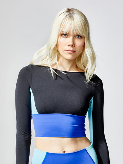 Releve Fashion Rally Crop Top Hydro Sustainable Fashion Athleisure Activewear Brand Positive Luxury Brands to Trust Purchase with Purpose Shop for Good