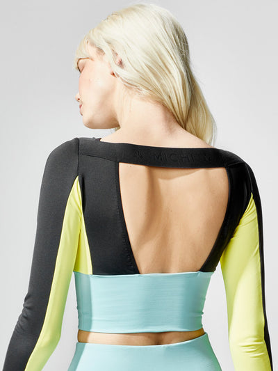 Releve Fashion Michi Rally Crop Top Sonic Sustainable Fashion Athleisure Activewear Brand Positive Luxury Brands to Trust Purchase with Purpose Shop for Good