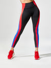 Releve Fashion Michi Rally Legging Flame Sustainable Fashion Athleisure Activewear Brand Positive Luxury Brands to Trust Purchase with Purpose Shop for Good