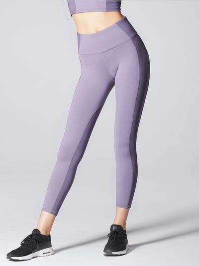 Releve Fashion Michi Mauve Vibe High Waisted Legging Ethical Designers Sustainable Fashion Athleisure Activewear Brand Positive Luxury Brands to Trust Purchase with Purpose Shop for Good