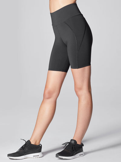 Releve Fashion Michi Black Liquid Bike Short Sustainable Fashion Athleisure Activewear Brand Positive Luxury Brands to Trust Purchase with Purpose Shop for Good