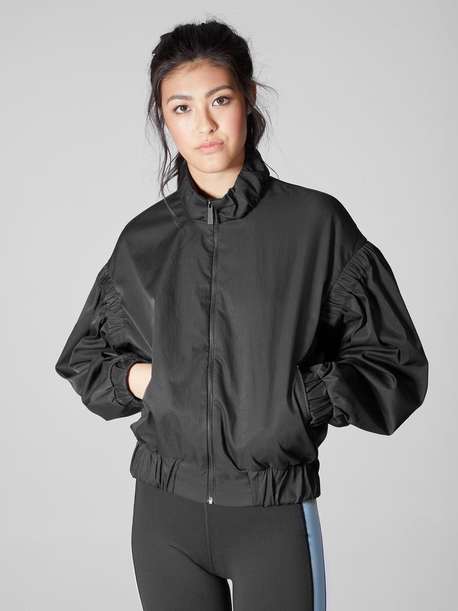 Releve Fashion Michi Black Werl Jacket Sustainable Fashion Athleisure Activewear Brand Positive Luxury Brands to Trust Purchase with Purpose Shop for Good
