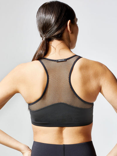 Releve Fashion Michi Black Antigravity Bra Ethical Designer Brand Sustainable Fashion Athleisure Activewear Athleticwear Positive Luxury Brands to Trust Purchase with Purpose Shop for Good