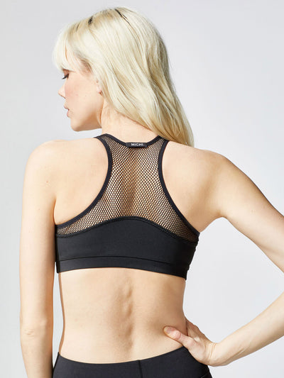 Releve Fashion Michi Black Bionic Sports Bra Ethical Designer Brand Sustainable Fashion Swimwear Athleisure Activewear Athleticwear Positive Luxury Brands to Trust Purchase with Purpose Shop for Good