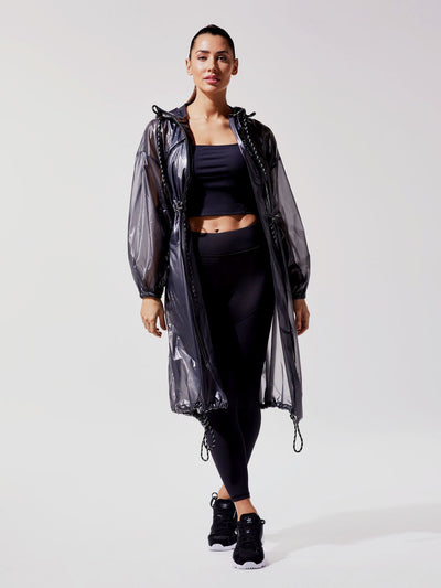 Releve Fashion Michi Black Cyclone Jacket Ethical Designer Brand Sustainable Fashion Swimwear Athleisure Activewear Athleticwear Positive Luxury Brands to Trust Purchase with Purpose Shop for Good