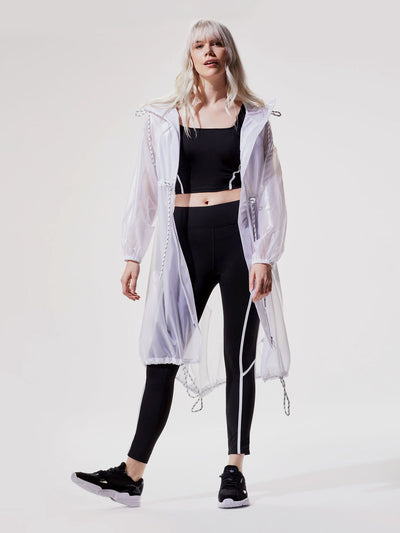 Releve Fashion Michi White Cyclone Jacket Ethical Designer Brand Sustainable Fashion Swimwear Athleisure Activewear Athleticwear Positive Luxury Brands to Trust Purchase with Purpose Shop for Good