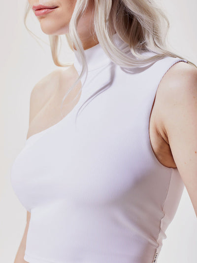 Releve Fashion Michi White Eclipse Crop Top Ethical Designer Brand Sustainable Fashion Athleisure Activewear Athleticwear Positive Luxury Brands to Trust Purchase with Purpose Shop for Good