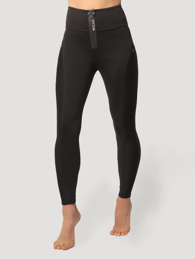 Releve Fashion Michi Black Eclipse Legging Ethical Designer Brand Sustainable Fashion Athleisure Activewear Athleticwear Positive Luxury Brands to Trust Purchase with Purpose Shop for Good