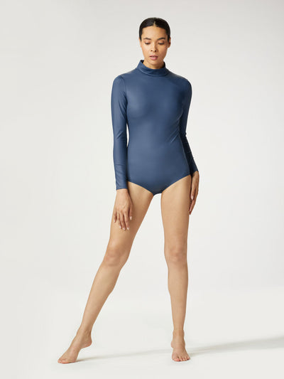 Releve Fashion Michi Ink Electric Bodysuit Ethical Designer Brand Sustainable Fashion Athleisure Activewear Athleticwear Positive Luxury Brands to Trust Purchase with Purpose Shop for Good